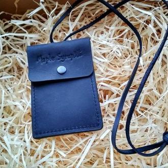 Кожаный чехол для пропуска,ID паспорта, водительского удостоверения
