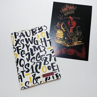 Обложка на паспорт, буквы, экокожа