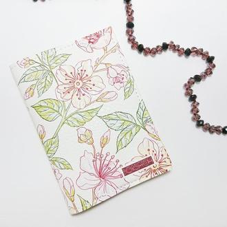 Обложка на паспорт, винтаж, весна, экокожа