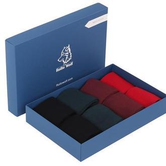 Набір з 8-ми пар тонких однотонних шкарпеток Rollo Wolf