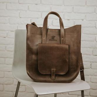 """Сумка """"VIOLO"""" сумка ручной работы, через плечо, большая женская сумка, шкіряна сумка"""