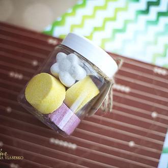 Бомбочки/гейзеры для ванной Лимон-ваниль 250 мл