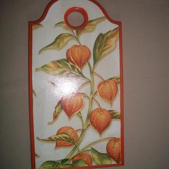 """Деревянная разделочная доска для кухни """"Урожай"""""""