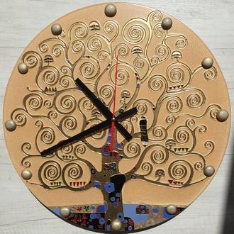 """Часы """"Дерево жизни"""" по мотивам Густава Климта"""""""