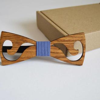 Деревянная галстук - бабочка Узор