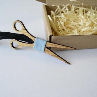 Деревянная галстук - бабочка Барбер