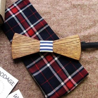 Деревянная галстук - бабочка Классическая