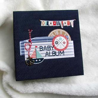 Детский морской альбом. Морской альбом для мальчика. Первый год жизни. Оригинальный подарок новорожд