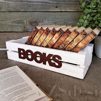 Дерев′яний ящик ′BOOKS′ -  Ящик для книг