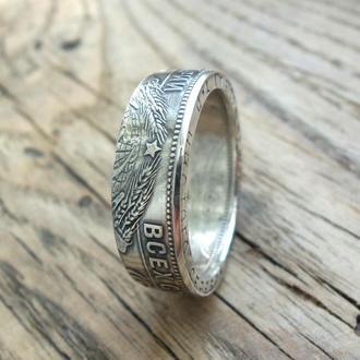Кольцо из монеты 50 копеек (Полтинник) 1924-1925 года Серебро