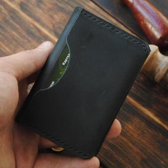 Минималистичный бумажник для карточек. Симпатичный подарок для парня.