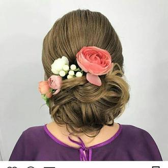 Свадебный веночек Заколка Веточка с цветами Цветы в волосы Бутоньерка Свадебные украшение для волос