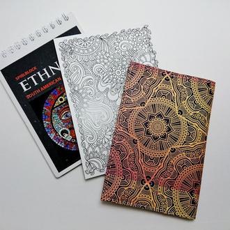 "Обложка на паспорт, ""мандала"", экокожа"
