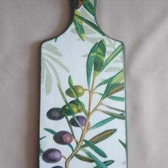"""Деревянная разделочная доска для кухни """"Оливка"""""""