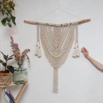 Настенное макраме-панно / украшение для интерьера / декор для дома, кафе, свадьбы