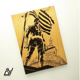 Деревянный блокнот(WB027)