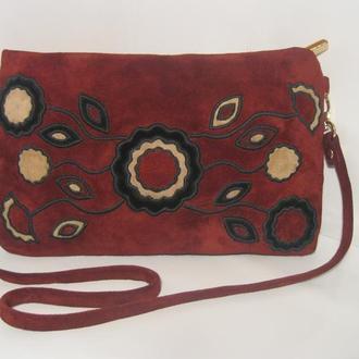 Авторская сумочка из натуральной замши.
