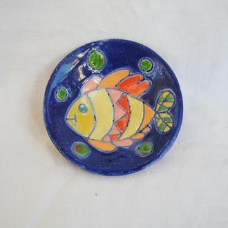 """Керамічна тарілка """"Рибка"""""""