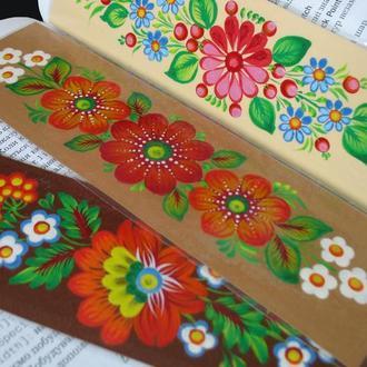 Набор закладок с петриковской росписью