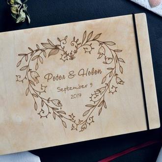 """Свадебный фотоальбом / Свадебная гостевая книга """"Blossom heart"""""""