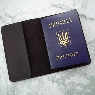 Авторская обложка на паспорт из натуральной кожи