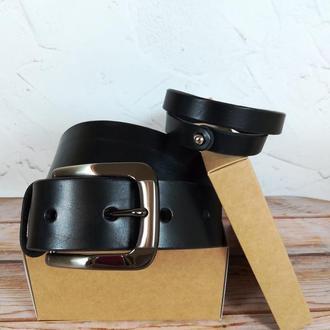 Подарочный набор BrusiloV (кожаный ремень и браслет)