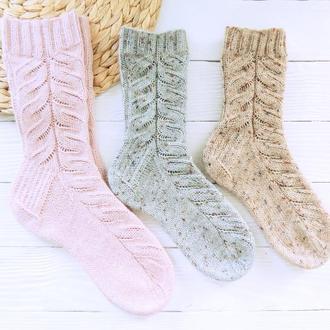 Вязаные носки Гжель (из специальной носочной пряжи)