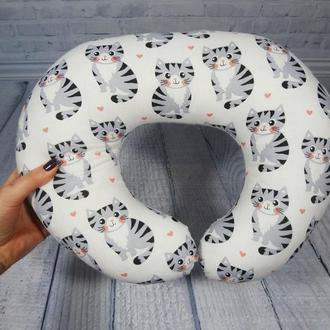 Дорожная подушка на шею - котики