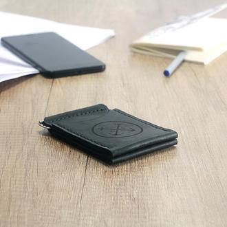 Кожаный Зажим для Купюр, OldSalt - мужской кошелек + Подарок