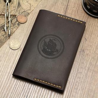 Обложка на паспорт из кожи, чехол для документов, кожаный докхолдер