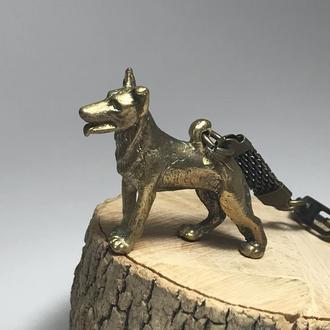 Брелок ′Собака′ бронза
