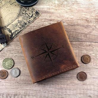 Персонализированный кошелёк с гравировкой на выбор (Изображение, инициалы, логотип) именной подарок