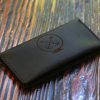 Мужской Кожаный Клатч + Подарок Брелок. Мужское портмоне, кошелёк из натуральной кожи - гарантия.