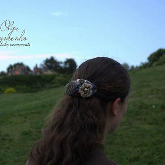 Женская заколка ′Осенний сухоцвет′