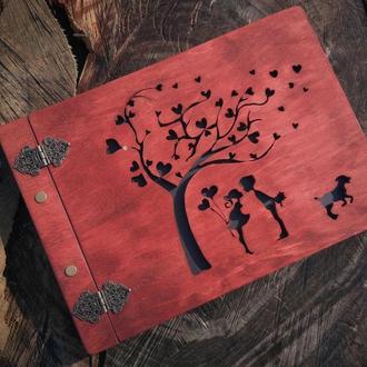 Фотоальбом 'Дерево кохання' | Подарунок на річницю, весілля, день народження