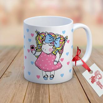 """Дизайнерская чашка Unicorn """"Модница Мая"""""""