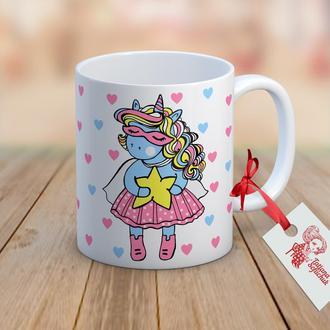 """Дизайнерская чашка из коллекции UNICORN Мая """"SUPER"""""""