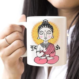 Йога - дизайнерская чашка с текстом в подарок, день рождения