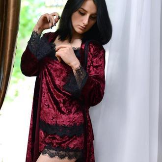 Халат. пижама. комплект. женское нижнее белье ручной работы bra lingerie undewear