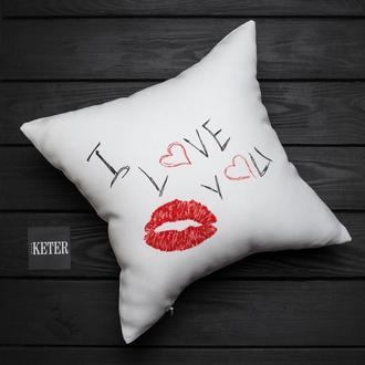 """Подушка """"Я люблю тебя"""""""