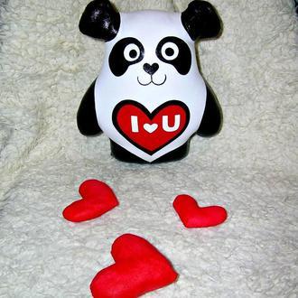 Панда. Текстильная игрушка