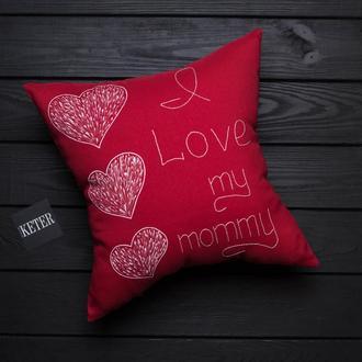 """Подушка """"Я люблю маму"""""""