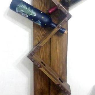 Винная полка деревянная, настенная.