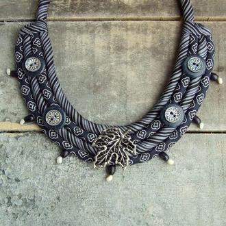 Ожерелье мягкое шелковое Кленовое