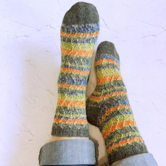Вязаные носки ЗигЗаг (из специальной носочной пряжи)