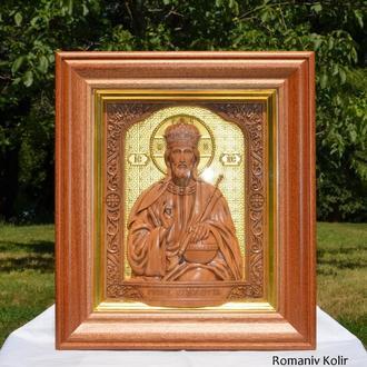 Икона деревянная резная Господь вседержитель