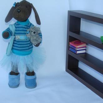 Интерьерная текстильная игрушка собачка