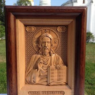 Икона резная из дерева Иисуса Христа (Господь Вседержитель)