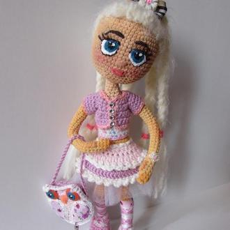 Вязанная кукла Альбина
