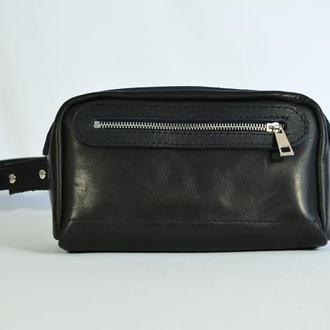 Кожаная сумочка на пояс